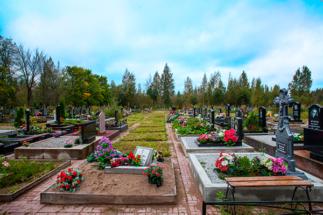 Подготовленные участки Ковалевского кладбища